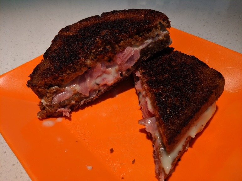 Grilled Ham and Cheese on Swedish Rye